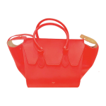 CELINE Tie Knot Tote Small Red Calfskin