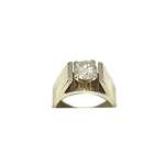 1 Carat Diamond Solitaire White Gold Engagement Ring